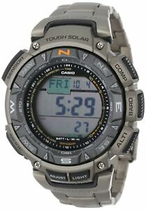 Casio Pro Trek Men's Solar Triple Sensor Titanium Band 51mm Watch PAG240T-7