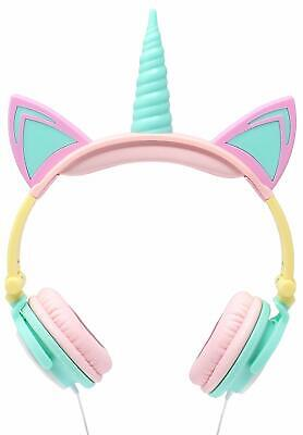 Gabba Goods Unicorn Over The Ear Wired Kids Headphones