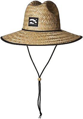 Brooklyn Surf Men's Straw Sun Lifeguard Beach Hat Raffia Wide Brim, One Size Broad Brimmed Hat