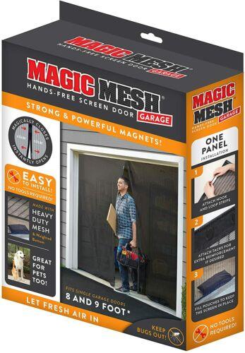 Magic Mesh Garage- Hands Free Magnetic Screen Door, Fits Single Garage Doors- 8