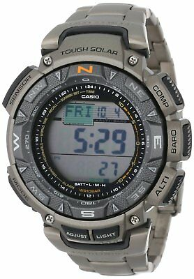 Casio Pro Trek Men's Solar Triple Sensor Titanium Band 51mm Watch PAG240T-7