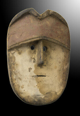 Mask Pasport Diminutive African Vuvi Gabon Wood 13cm Art First 16702