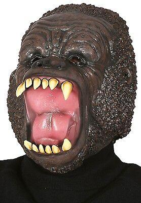 Erwachsene Wild Gorilla Latex Gesichtsmaske Tier Halloween Kostüm Kleid Outfit (Wild Gorilla Kostüme)