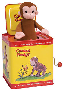 CURIOUS GEORGE JACK IN THE BOX Tin Toy by Schylling