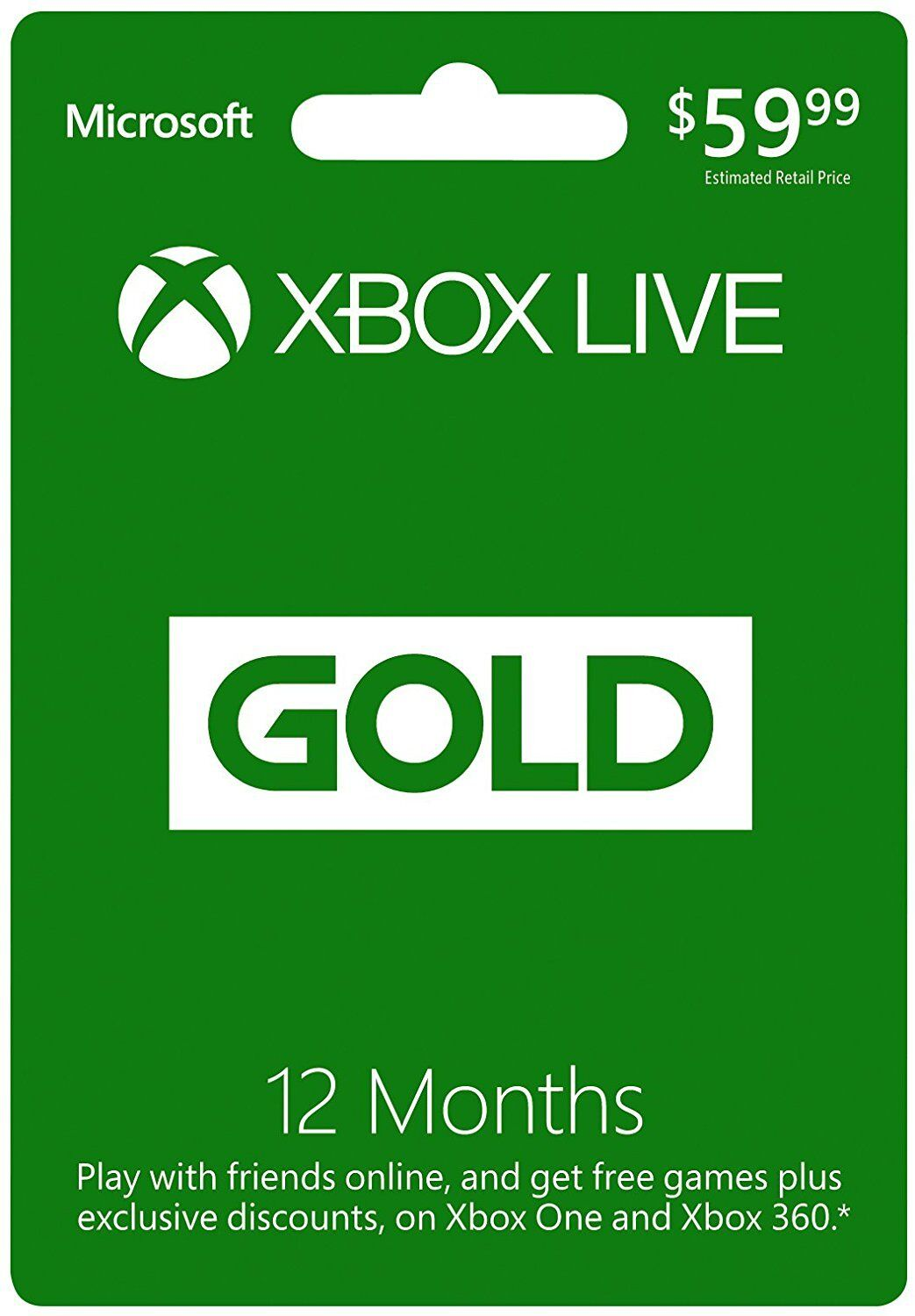 Купить Microsoft - Microsoft Xbox LIVE 12 Month Gold Membership Card for Xbox 360 / XBOX ONE