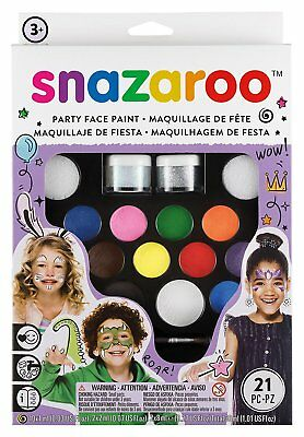 Snazaro Kids Party Face Paint Painting Water Base Paints Halloween Preschool Set
