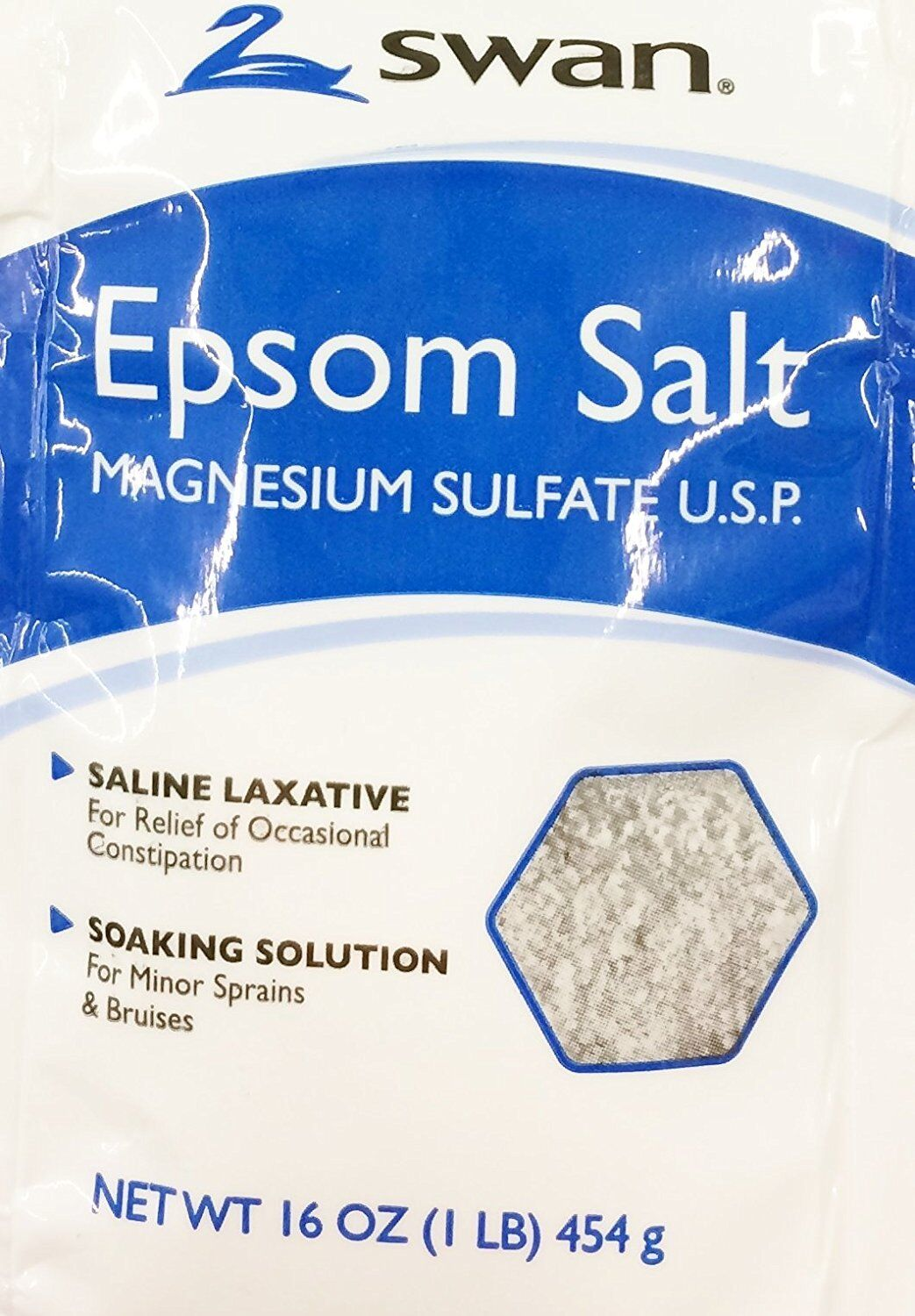 SWAN Epson Salt, Saline Laxative, Soaking Solution 16oz X...