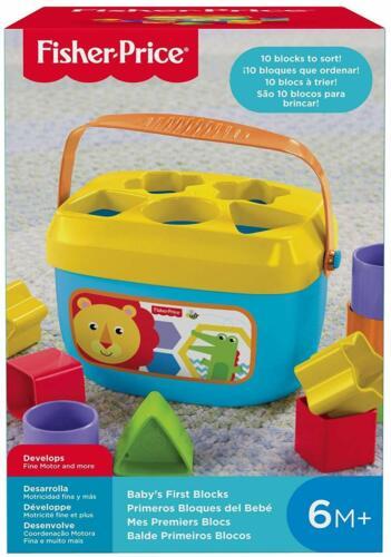 NEW Fisher Price Toys Babys First Blocks 10 Piece Developmental Toy Block Set
