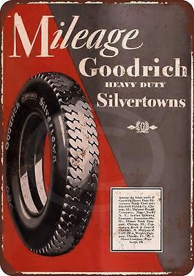 BF Goodrich Tires Metal Sign Shop Garage Racing Mechanic 4x12 50119