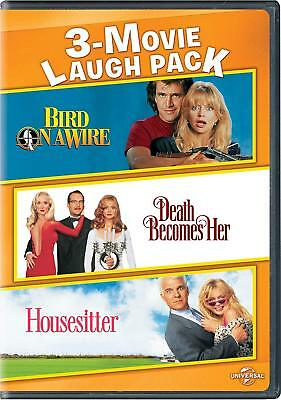 3-Movie Laugh Pack: Bird on a Wire / Death Becomes Her / Housesitter (DVD, 2017)