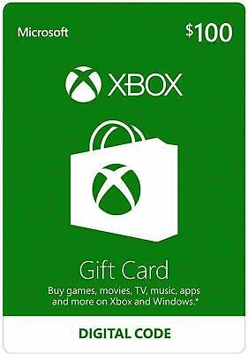 XBOX Live $100 Gift Card - 3 Available