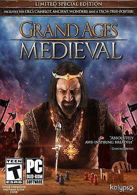 Computer Games - Grand Ages Medieval Limited Edition PC Games Windows 10 8 7 XP Computer NEW