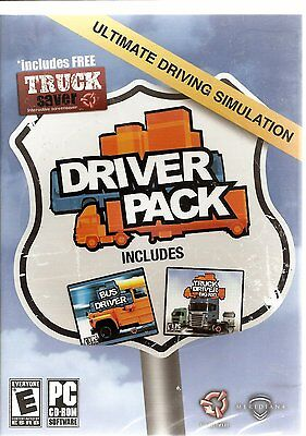 Driver Pack - includes Truck driver big rig and Bus Driver (for PC, 2010) *New* Big Rig Truck Games