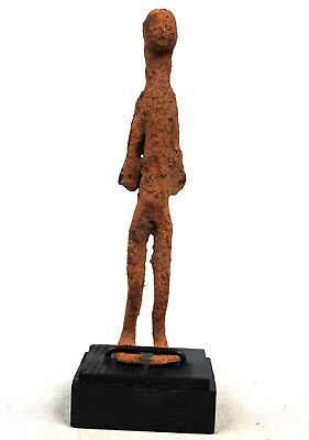 Art African - Antique Figure forged iron Lobi - with Base - 14,5 Cm