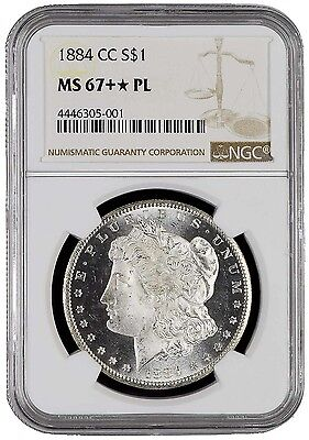 Click now to see the BUY IT NOW Price! 1884 CC $1 MORGAN SILVER DOLLAR NGC MS67PL STAR STAR HIGHEST IN PROOF LIKE