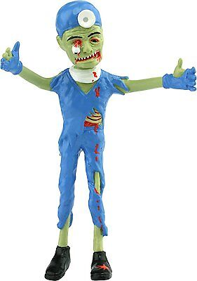 Zombie Brain Surgeon Bendable Action Figure Bloody with Eye Ball Falling Out - Brain Balls