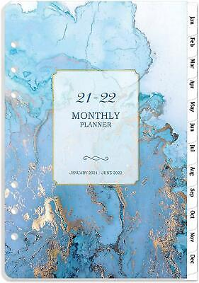2021-2022 Monthly Planner Refill 18-month Planner Refills Tabs 5-12 X 8-12