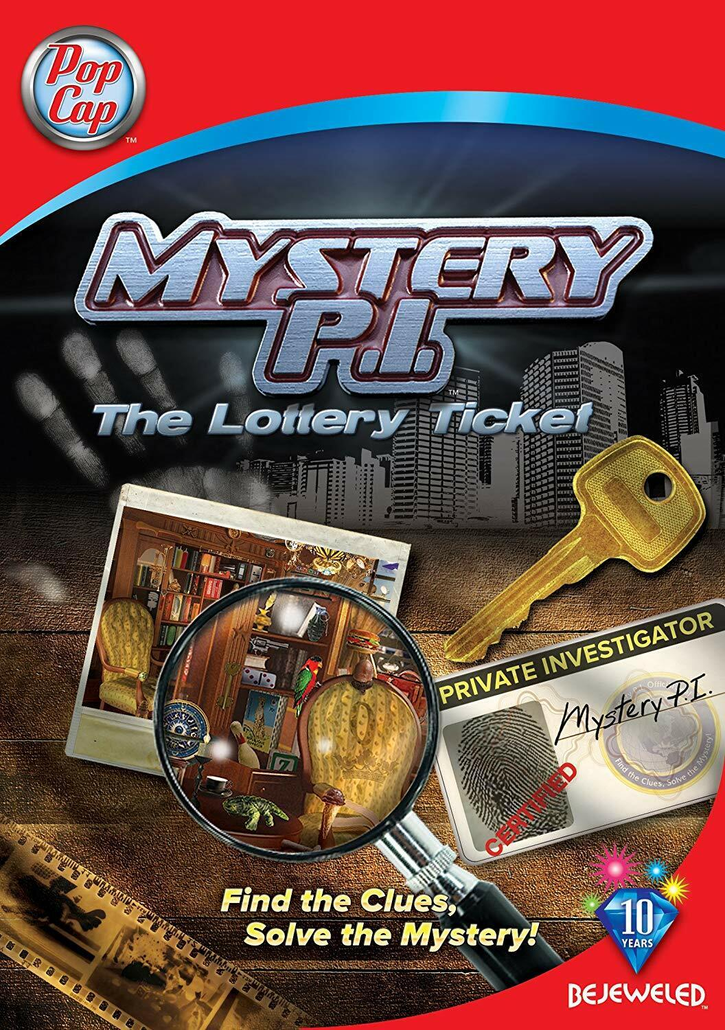 Computer Games - Mystery P.I. The Lottery Ticket PC Games Window 10 8 7 XP Computer seek find