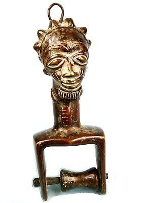 Art African - Antique Pulley Occupation loom Baoulé Bronze - 21 Cm