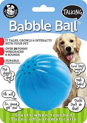 PETQWERKS LARGE BLUE TALKING BABBLE BALL DOG TOY. FREE SHIPPING TO THE USA