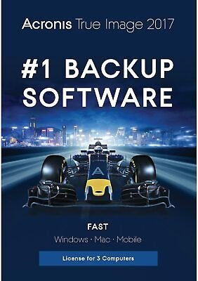 Acronis True Image 2017 Backup Software for 3 Computers