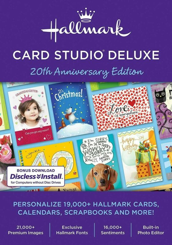 Hallmark Card Studio 2020 Deluxe for Windows - Official Full Version - Download