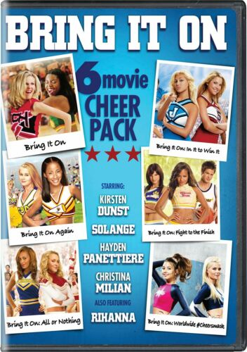 Bring It On 6-movie Cheer Pack DVD Kirsten Dunst NEW free shipping