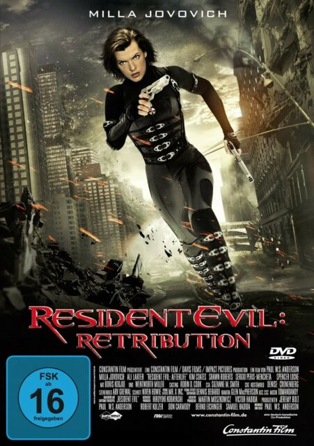 RESIDENT EVIL RETRIBUTION (MILLA JOVOVICH, M. RODRIGUEZ,...)  DVD NEU