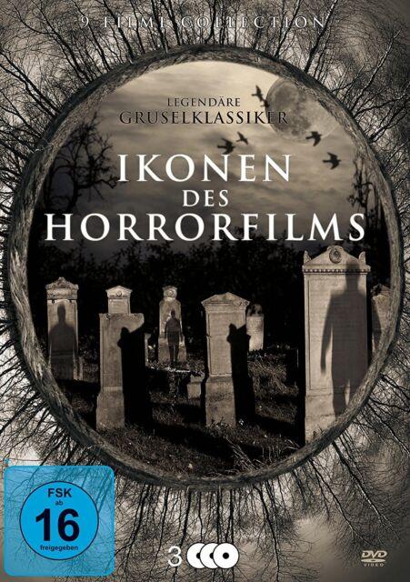 9 Classics ICONS OF THE HORROR FILM Bela Lugosi VINCENT PRICE G. Sanders DVD Box