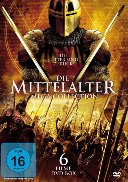 MITTELALTER COLLECTION Ritter TEMPELRITTER Titanen KREUZRITTER 6er DVD Box Neu