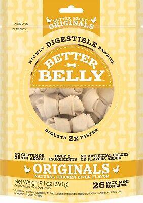 Better Belly Digestable Chicken Liver Rawhide Dog Bones 26-coun... Free Shipping Dog Liver Bones