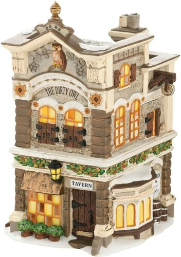 Department 56 New England Village The Dirty Owl Tavern 4030703 New in Box