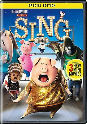 Sing (DVD) Special Edition - Includes 3 Mini Movies - INCLUDES SLIPCOVER