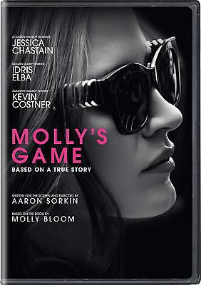 Molly's Game (DVD, 2018) New & Sealed FREE Shipping!