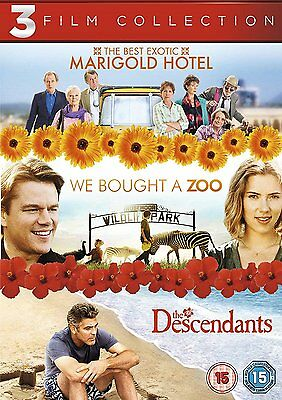 Best Exotic Marigold Hotel/Bought A Zoo/Descendants 3 Film DVD FREE