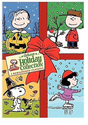 Peanuts Deluxe Holiday 3-Movie Collection [DVD Box Set Great Pumpkin, Christmas] - Peanuts Christmas Movie