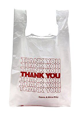 New 100 Ct Plastic Shopping Bags T-shirt Type Grocery White Small Size Bags....