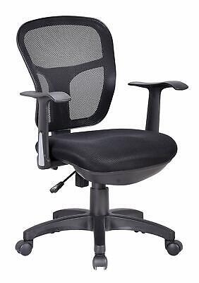 OFFICE FACTOR Ergonomic Black Mesh Task Conference Room Desk