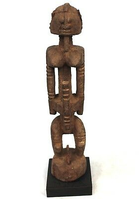 Art African Arts Premiers - Statue of Hogon on Base - Wood & Iron - 39 Cm