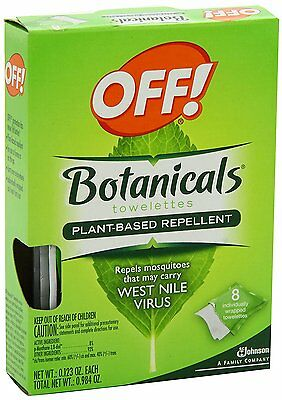 OFF® Botanicals® Plant-Based Insect Repellent Towelettes REPELS MOSQUITOS (Based Insect Repellent)