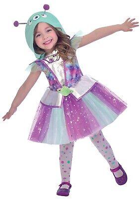 Mädchen Alien Cutie Raum Marsmensch TV Buch Film Halloween Kostüm - Mädchen Alien Kostüm Halloween
