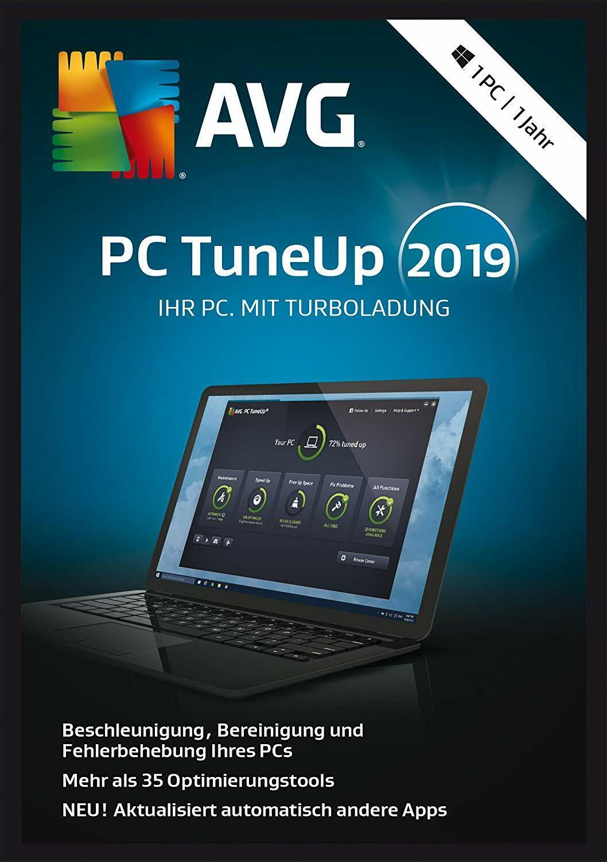 AVG PC TuneUp 2019 - TuneUp Utilities - 1 PC / 1 Jahr Vollversion NEU