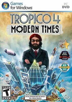 Computer Games - Tropico 4 Modern Times expansion PC Games Windows 10 8 7 XP Computer BRAND NEW