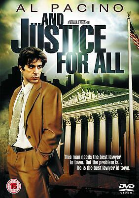 AND JUSTICE FOR ALL DVD Al Pacino Movie Original UK Release Brand New Film R2