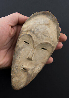 Fang Ngil Mask african Masquette Grade of Gabon wood 17cm Art first 16848