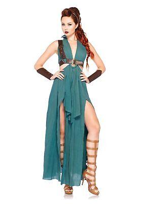 Leg Avenue Warrior Maiden Adult Womens Green Dress Halloween Costume 85036