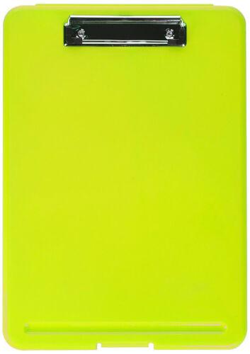 GREEN Plastic Storage Office Nursing Clipboard Case Document Letter Size Holder