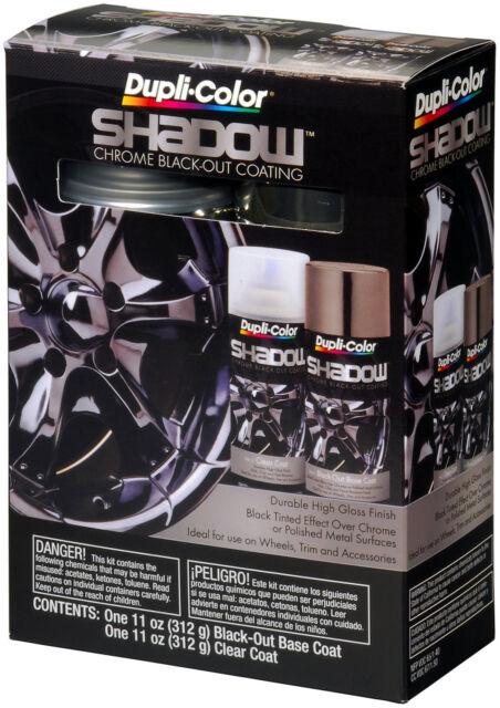 Duplicolor custom auto paint: Shadow Chrome Black-Out Kit (Black/Clear)  SHD1000