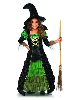 Leg Avenue Witch Costume Black and Green-Childrens-Brand New!