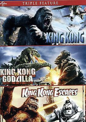 King Kong / King Kong vs Godzilla / King Kong Escapes (DVD) - NEW!!
